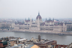 Hungarian Parliament House Stock Photography