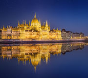 Hungarian Parliament and Liberty Statue, Budapest Royalty Free Stock Photo