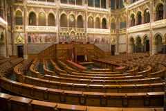 Hungarian Parliament National Assembly Hall Royalty Free Stock Image