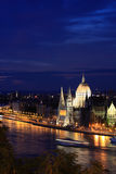 The Hungarian Parliament at night. The Hungarian Parliament Building is the seat of the National Assembly of Hungary, one of Europe's oldest legislative Royalty Free Stock Photo