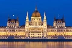 Hungarian parliament at night Stock Image