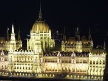 Hungarian parliament at night Stock Image