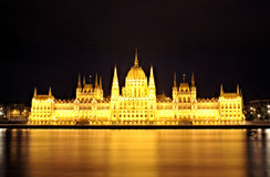 Hungarian Parliament an night Stock Photo