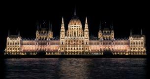 Hungarian Parliament, Night Royalty Free Stock Photo