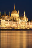 Hungarian parliament at night, Budapest Royalty Free Stock Photography