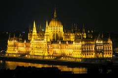 Hungarian Parliament. Parliament by night, Hungary, Budapest Royalty Free Stock Photo
