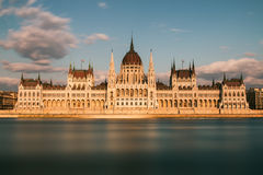 The Hungarian Parliament. One of Europe's oldest legislative buildings royalty free stock photo