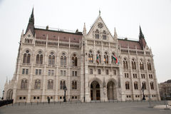 Hungarian Parliament from side Royalty Free Stock Photo
