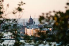 Hungarian Parliament at Sunset, Budapest Royalty Free Stock Photography