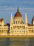 The Hungarian Parliament on a sunset Stock Image