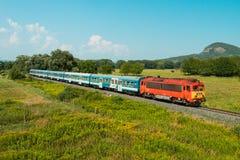 Hungarian passanger train Royalty Free Stock Photo