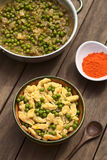 Hungarian Pea Stew with Nokedli or Galuska Stock Photo