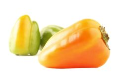 Orange hungarian pepper Stock Image