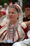 Hungarian pilgrims celebrating the Pentecost Royalty Free Stock Photo