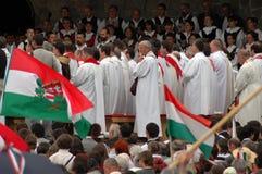 Hungarian pilgrims celebrating the Pentecost Stock Photography
