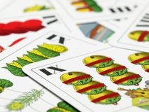 Hungarian playing cards Royalty Free Stock Photography