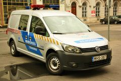 Hungarian police vehicle Royalty Free Stock Photos