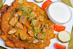 Hungarian potato pancake Royalty Free Stock Photo
