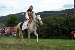 Hungarian rider making a demonstration Stock Photos