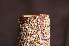 Hungarian a round loaf with peanuts Royalty Free Stock Images