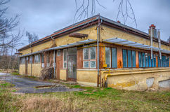 Hungarian rural decay - abandoned and ruined building.  Stock Images