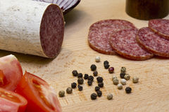 Hungarian salami Stock Photography