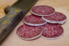 Hungarian salami Stock Photo