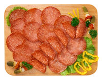 Hungarian salami Royalty Free Stock Photography