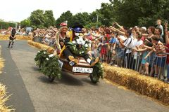 Hungarian Soap box race Royalty Free Stock Images