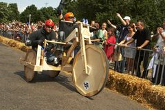 Hungarian Soap box race Royalty Free Stock Photo