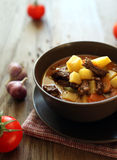 Hungarian soup goulash Royalty Free Stock Photos