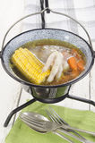 Hungarian soup with vegetable and chicken foot Stock Images