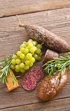 Hungarian spicy salami Royalty Free Stock Image