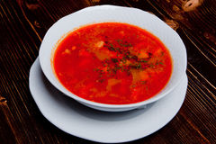 Hungarian spicy soup Royalty Free Stock Images
