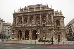 Hungarian State Opera House in Budapest Royalty Free Stock Images