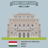 Hungarian State Opera House. Budapest Stock Photo