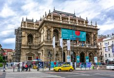 Hungarian State Opera House in center of Budapest, Hungary royalty free stock photo