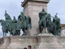 hungarian-statesman-monument Stock Photo