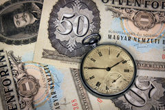 Hungarian time is money Stock Images