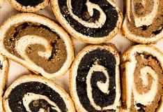 Hungarian traditional cake beigli or bejgli 2 royalty free stock photos
