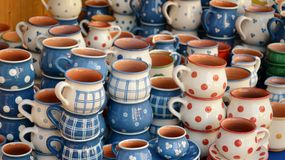 Hungarian traditional ceramics. Detail of Hungarian traditional ceramics Royalty Free Stock Photo