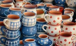 Hungarian traditional ceramics. Detail of Hungarian traditional ceramics Royalty Free Stock Image