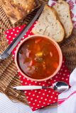 Hungarian traditional food, goulash soup Royalty Free Stock Images
