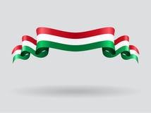 Hungarian wavy flag. Vector illustration. Stock Photography