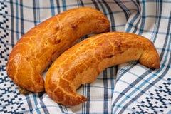 Hungarian xmas walnut crescent shape cake Royalty Free Stock Images