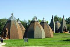 Hungarian yurta museum stock photos