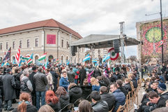 Hungarians day. Hungary's Day , celebrated in Saint George city , Romania Stock Photos
