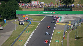 Hungaroring Formula 1 race Royalty Free Stock Photo