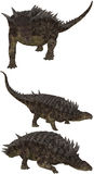 Hungarosaurus. Lived in Europe - isolated on white Royalty Free Stock Images