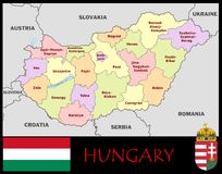 Hungary Administrative divisions Royalty Free Stock Photography
